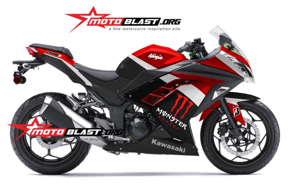 ... at 1250 × 827 in Modif Striping Kawasaki Ninja 250R FI Black Red