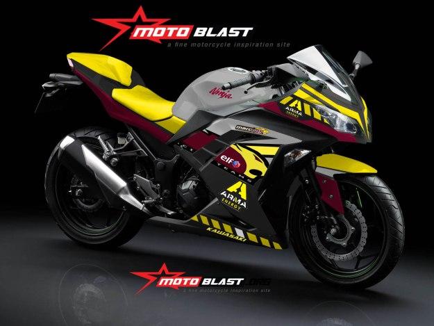 ninja 250r FI black-marc VDS