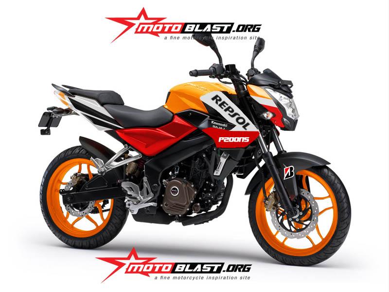 Modif Kawasaki Bajaj P200ns ala Repsol motogp!! | MOTOBLAST