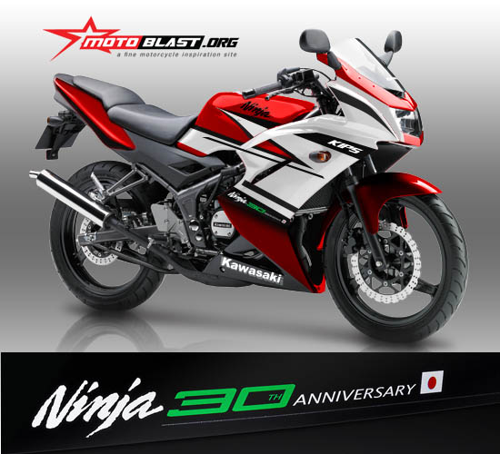 Modif Striping Kawasaki Ninja 150R Edisi 30th Ninja