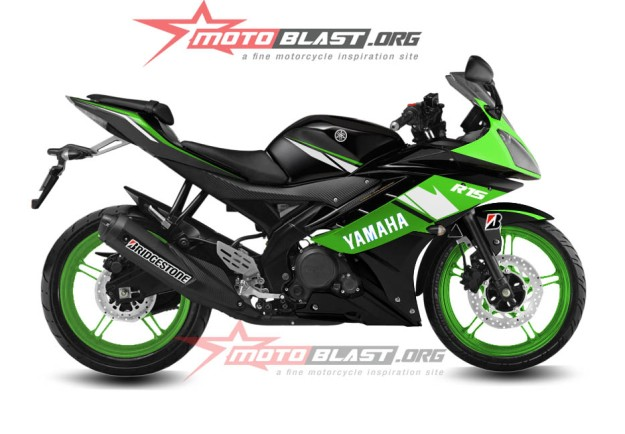 modif striping yamaha R15 - black green1