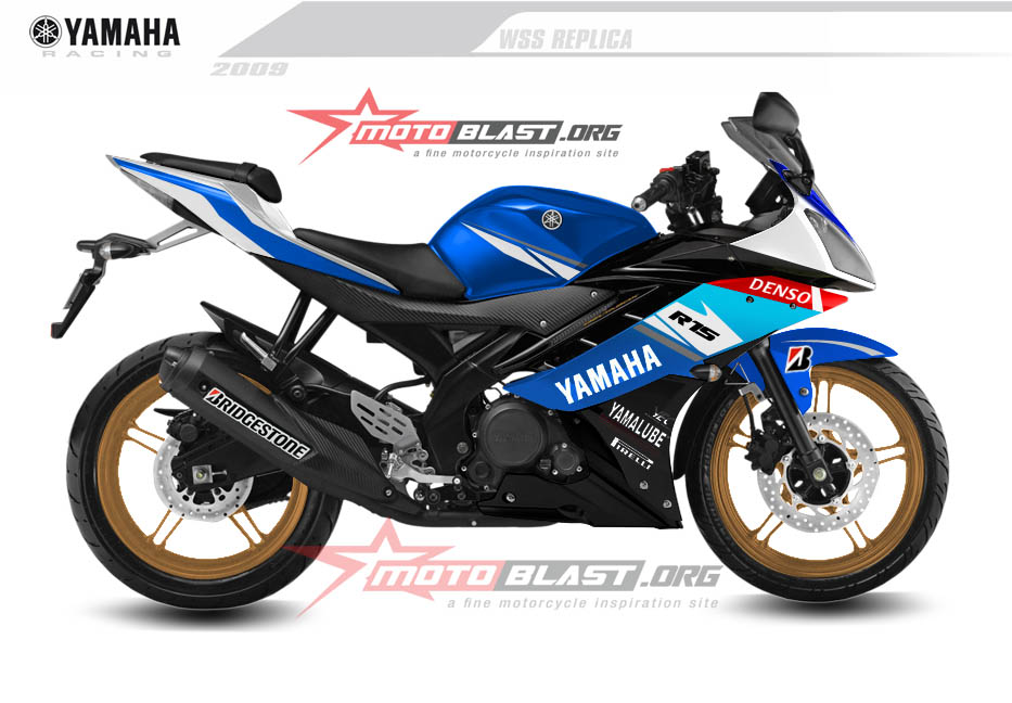 Modif Yamaha R15 Biru Putih - Cal Crutclow Livery!  MOTOBLAST