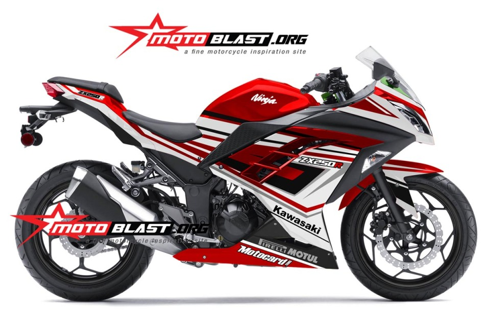 ... 2014 at 1200 × 815 in Modif Striping Kawasaki Ninja 250R FI Merah