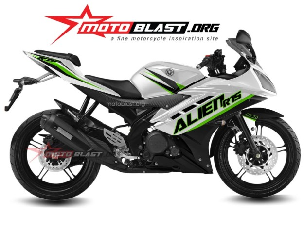yamaha R15 white-green alien1