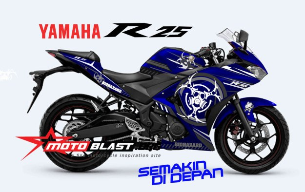 YAMAHAR25-BLUE-BIO HAZARD-SMALL