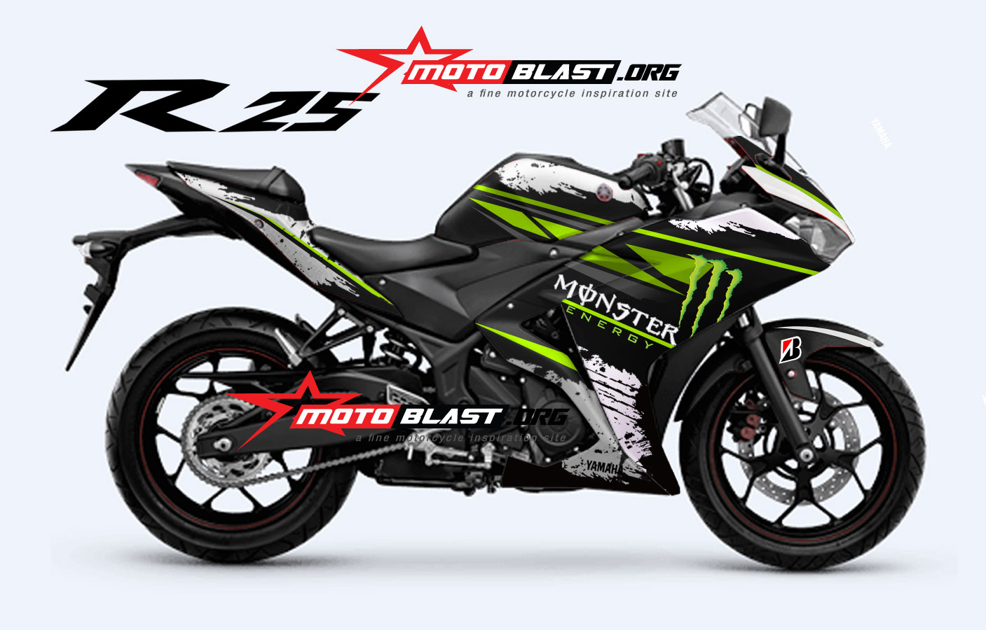 Cutting Sticker Monster Yamaha R25