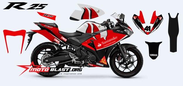 modif striping yamaha  red santander superbike