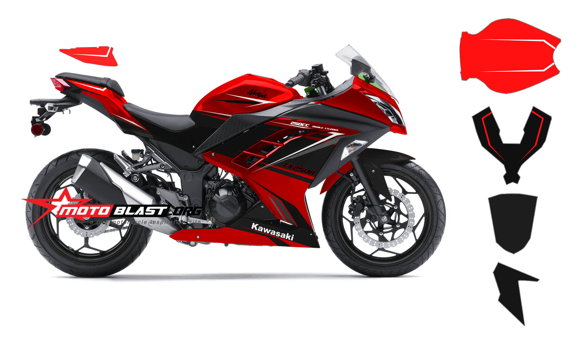 × 1200 in Modif Striping Kawasaki Ninja 250r fi Red! . ← Previous