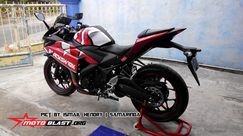 Gambar Modifikasi Knalpot Yamaha R25 Pangeran Prospeed Mt25 Mf Series Fullsystem Black Chome Before After Modif Simple Oleh Bro Hendry Di