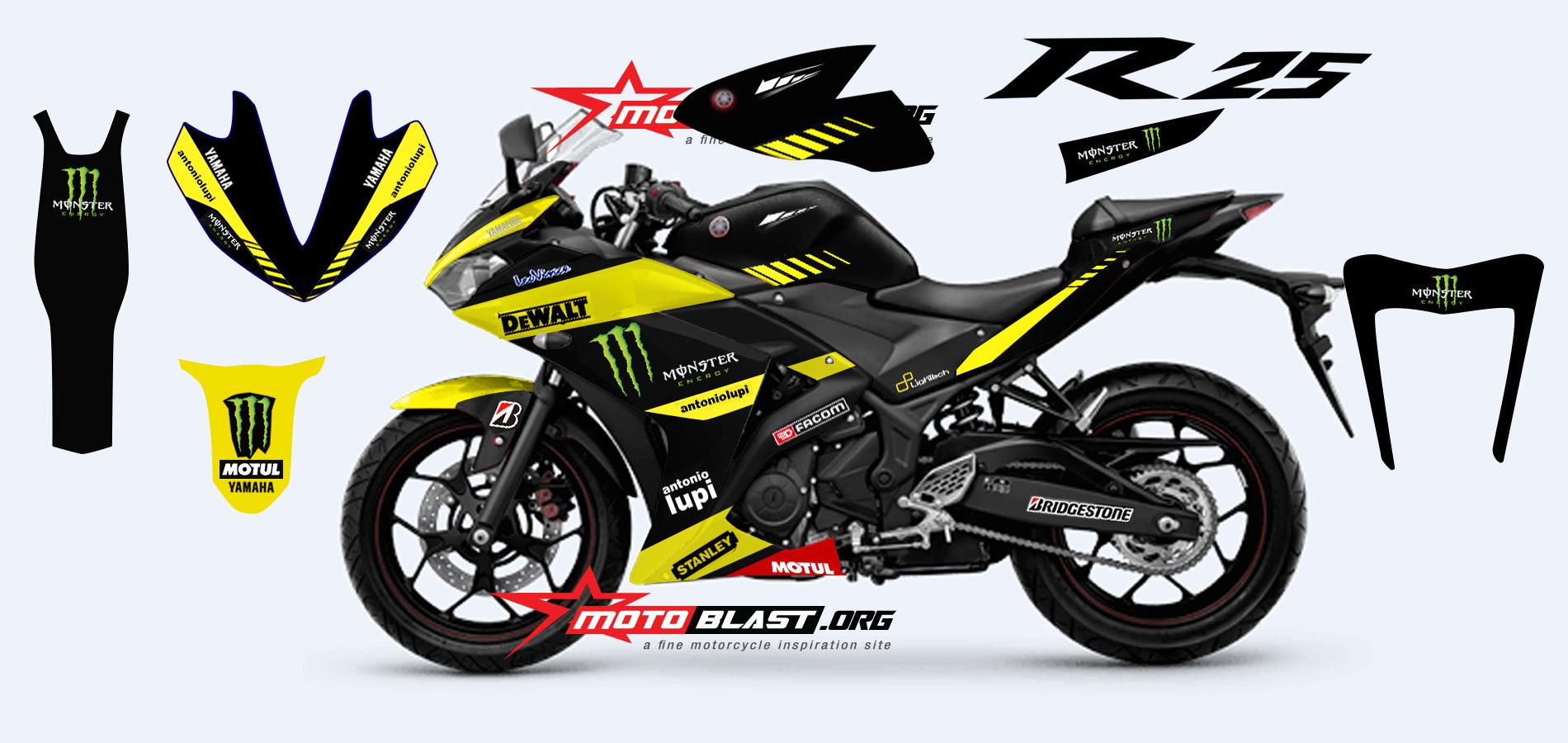 contoh Yamaha R25 Modifikasi Motogp
