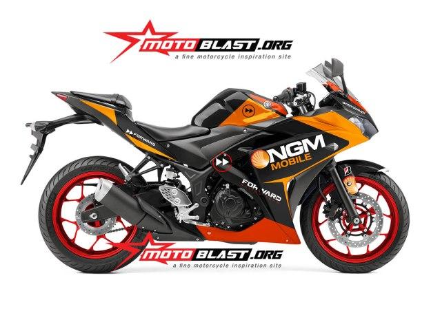 yamaha R3-dan R25-BLACK-NGM RACING3