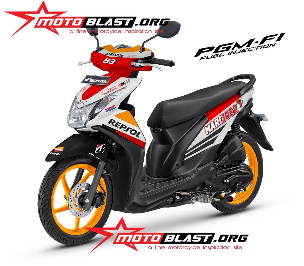 Koleksi 58 Modifikasi Motor Honda Beat Repsol Terbaru Pojok Otomania