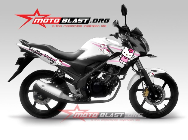 CB150R new white -HELLOKITTY1