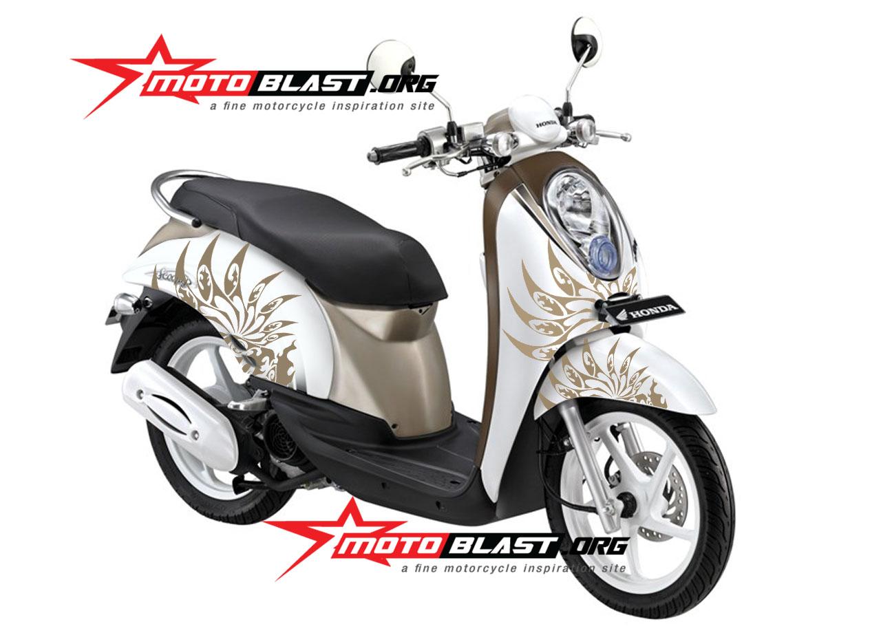 Modif Striping Honda Scoopy White