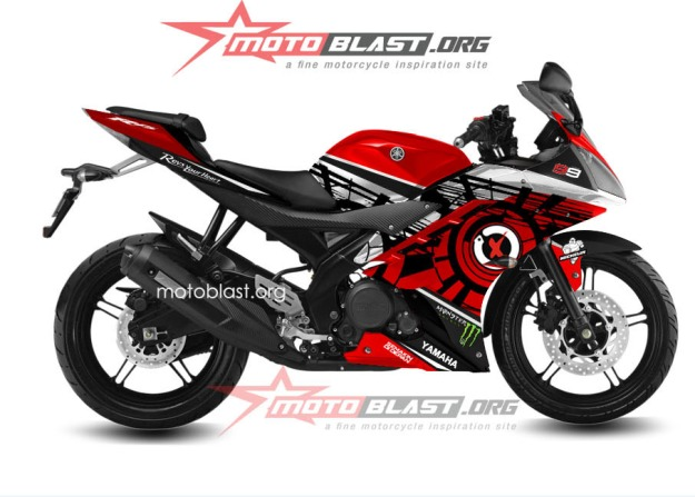 monyorblast modif striping yamaha r15 red special untuk