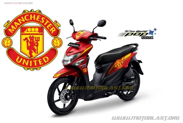 Hot Perdanamodif Striping Super Soccer Honda Beat Pop Esp Red