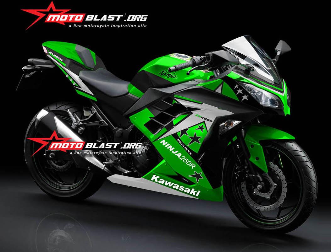 HOT! Facelift Modif striping Kawasaki Ninja 250R FI 2015 Green ...