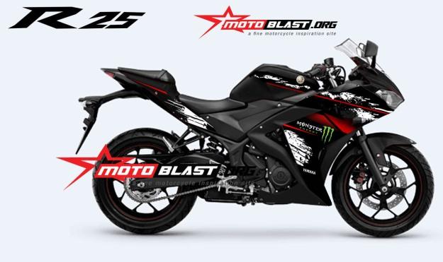 YAMAHAR25-BLACK monster-1