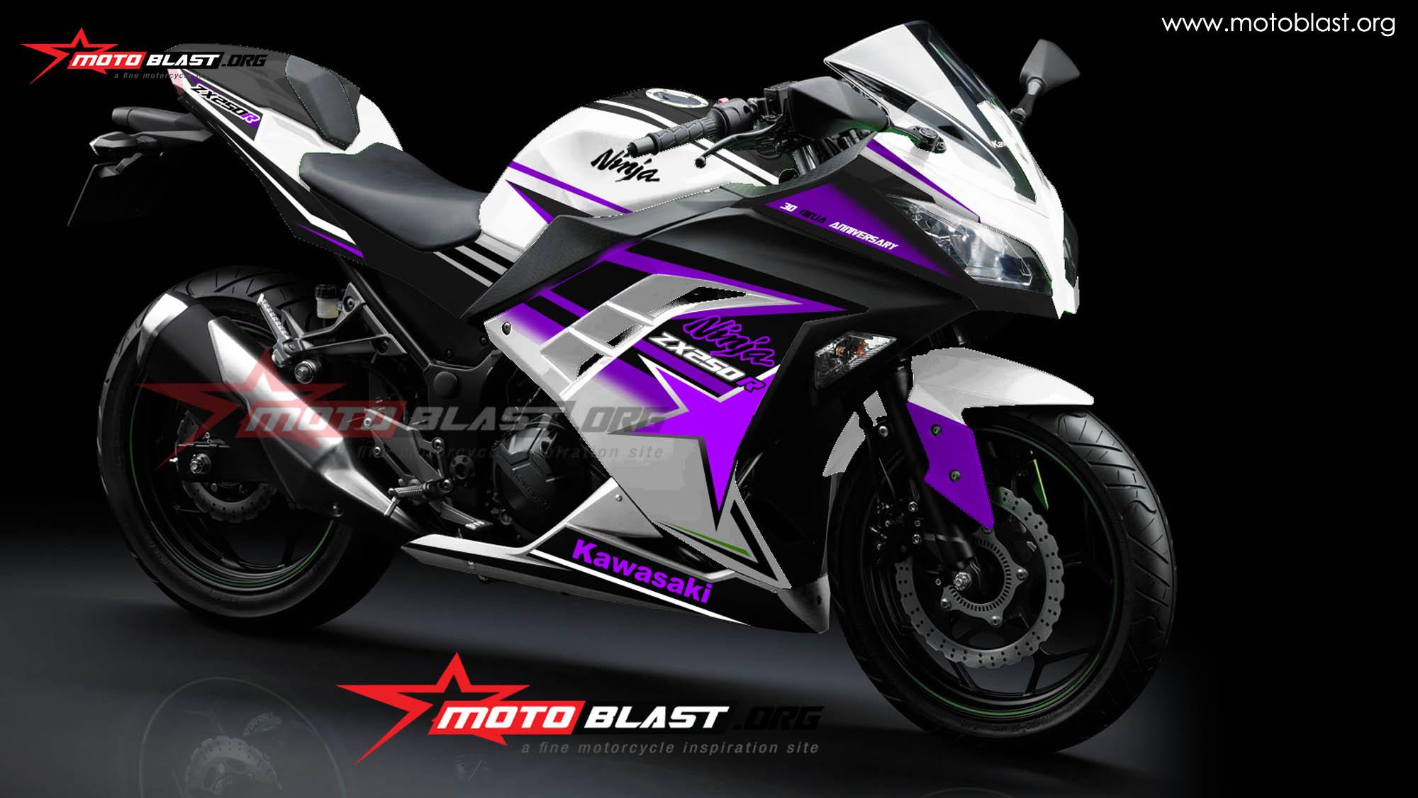 Ninja 250r fi white purple jpg