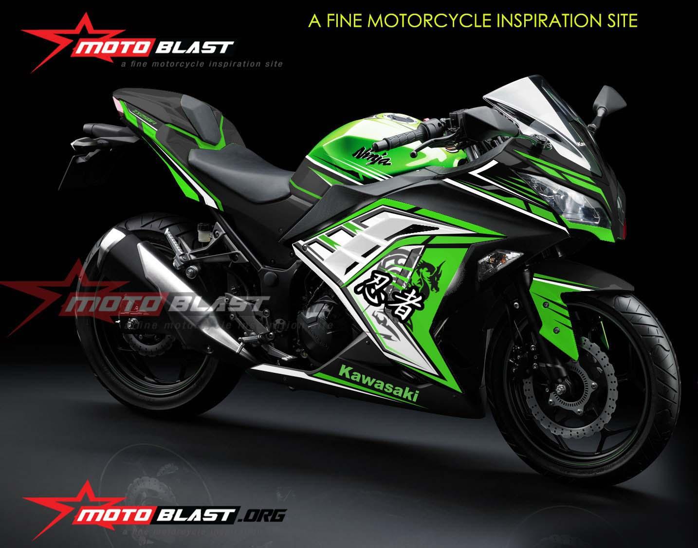 modifikasi ninja 250 fi warna hijau terkeren
