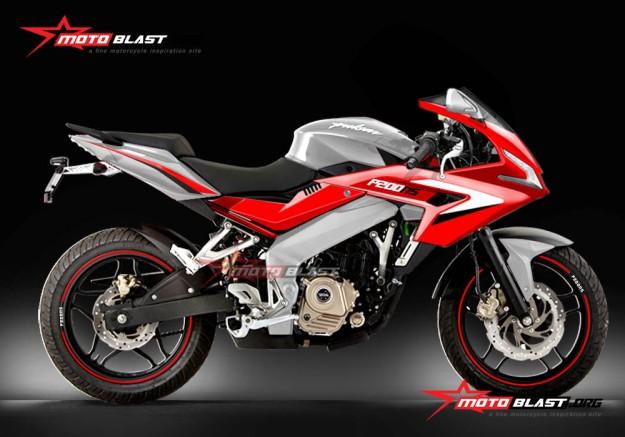 P200NS-RED custom body fullfairing-2
