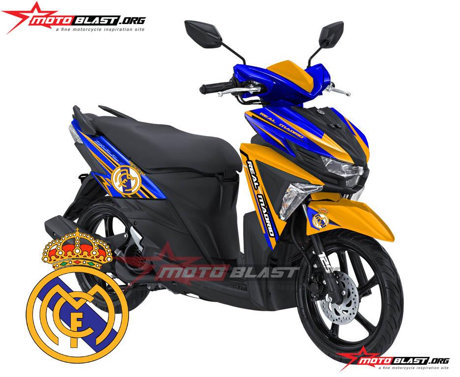 Modif Striping Yamaha Gt 125 Blue Core Real Madrid Fc Theme