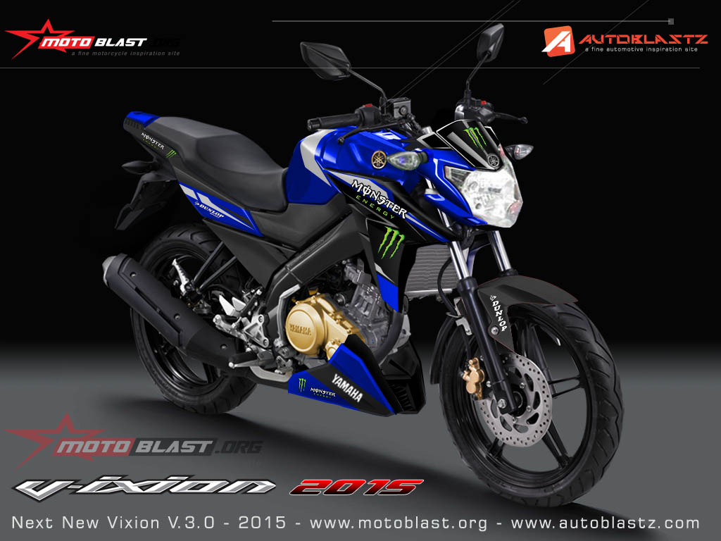 Download Konsep 75 Modifikasi Motor Vixion Advance Warna Merah