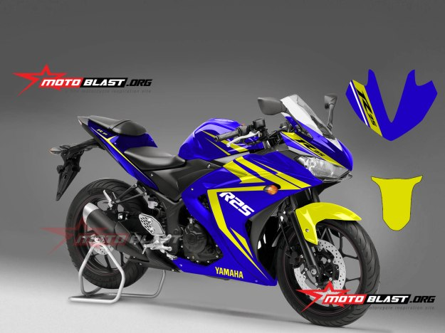 Yamaha R25 Blue Yellow