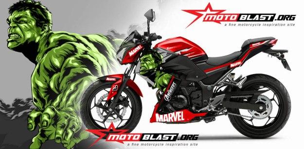 Kawasaki-Z250-HULK-RED