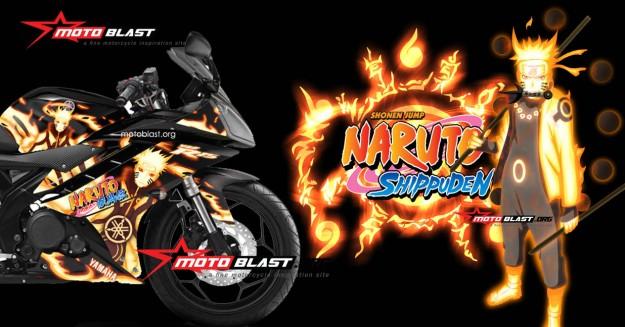 yamaha R15 black NARUTO-front