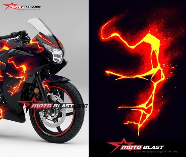 Honda-cbr-250-black-ironman-front