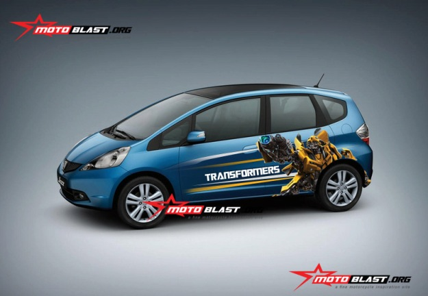 honda jazz biru - bumble bee-2