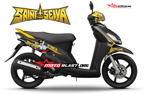 Hot Modif Striping Yamaha Mio Smile Sporty Black Ala Film Kartun
