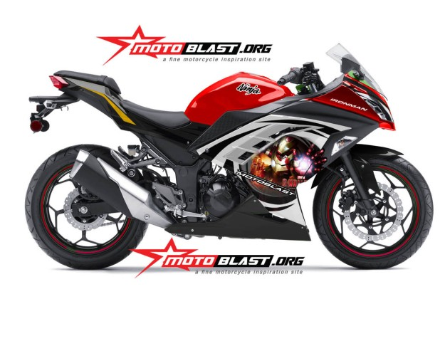 ninja 250 RED - ironman-motoblast