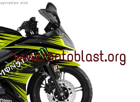 Modif striping yamaha R15 black Monster yellow new style ...