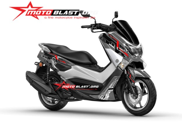 modif striping yamaha nmax gun metal color  tech simple