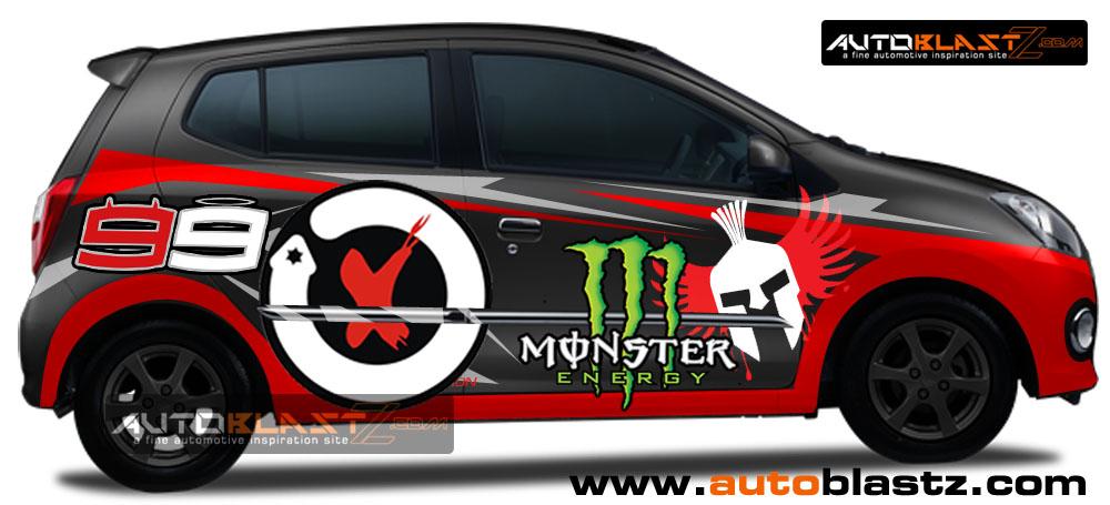 Jual Striping Sporty Ralli art / Stiker Mobil / Cutting ...