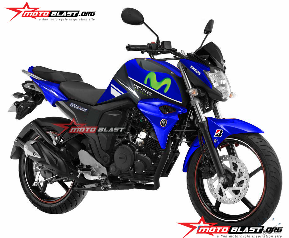 Modif Striping Yamaha Byson FI Movistar