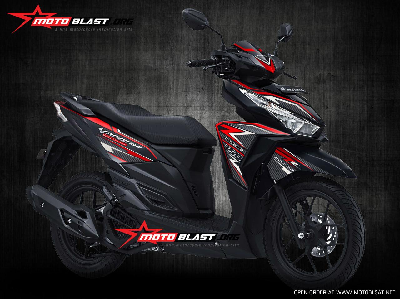 Koleksi Ide Modifikasi Motor Vario 150 Black Terbaru Velgy Motor