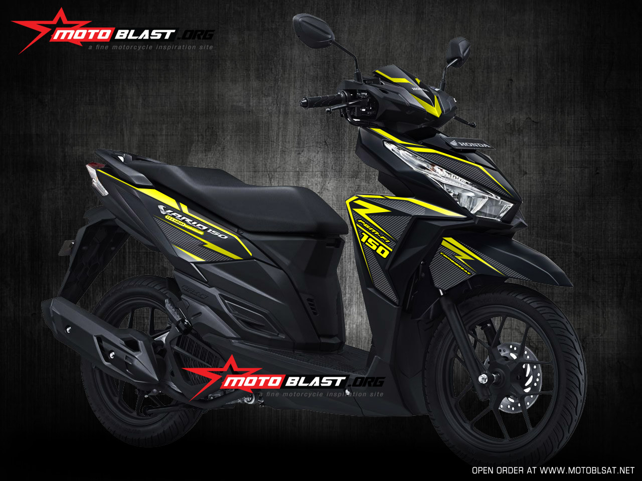 Hot Modifikasi Striping Honda Vario 150 Esp Black Matte