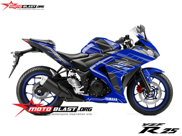 yamaha R25-TECHNO-BLUE
