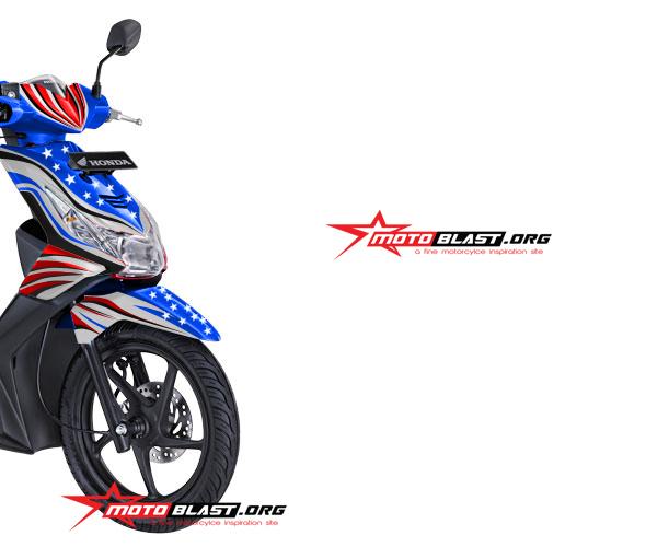 Hot Modif Striping Honda Beat Karbu Rwb Star Motoblast