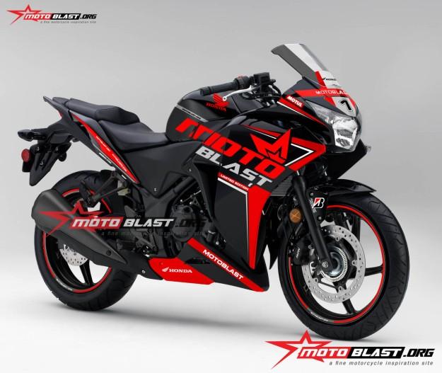 Honda-cbr-250-black-MOTOBLAST LIVERY-NEW