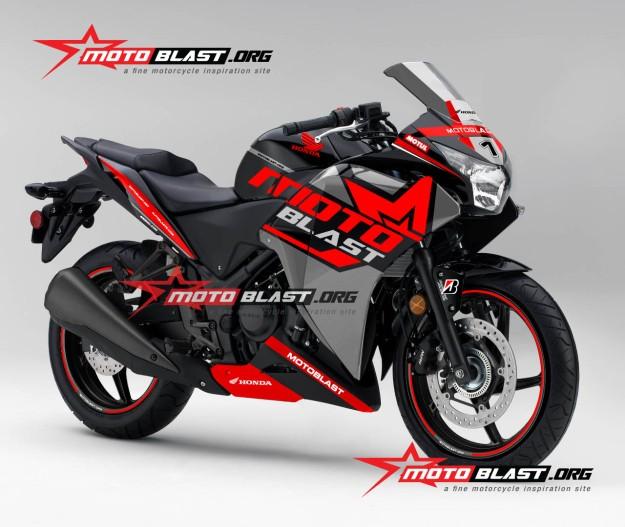 Honda-cbr-250-black-MOTOBLAST LIVERY