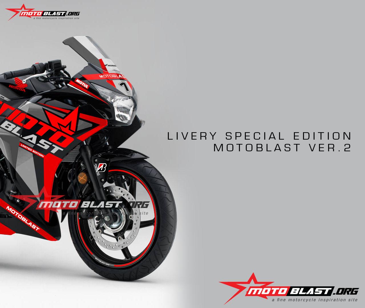 Honda Cbr 250 Black MOTOBLAST LIVERY4 MOTOBLAST