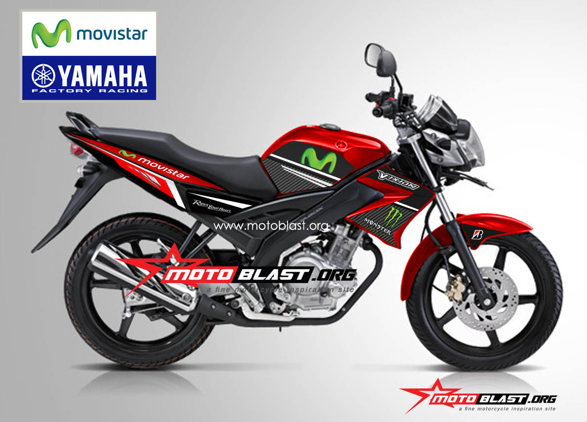 Grafis Inspirasi Yamaha OLD Vixion RED Movistar Lagi
