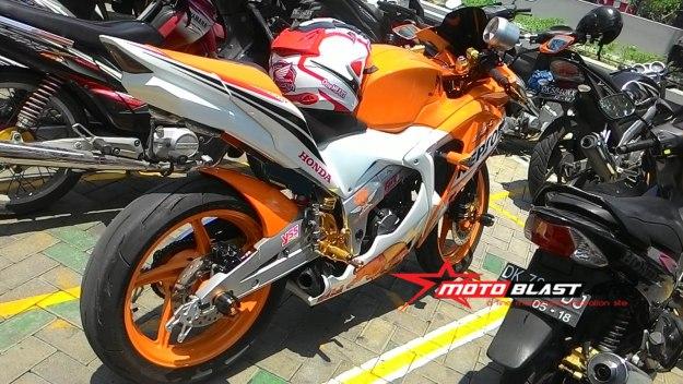 Modif Honda Cbr150r Thailand Repsol Livery Dari Bali Sangar