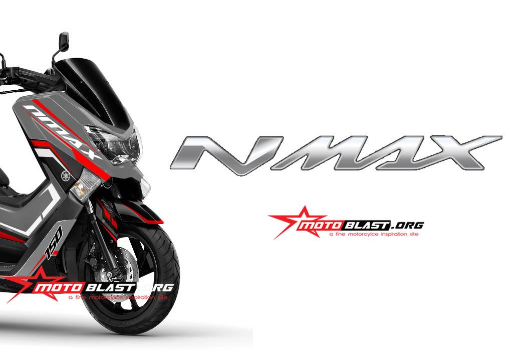 modif striping yamaha nmax  silver motoblast