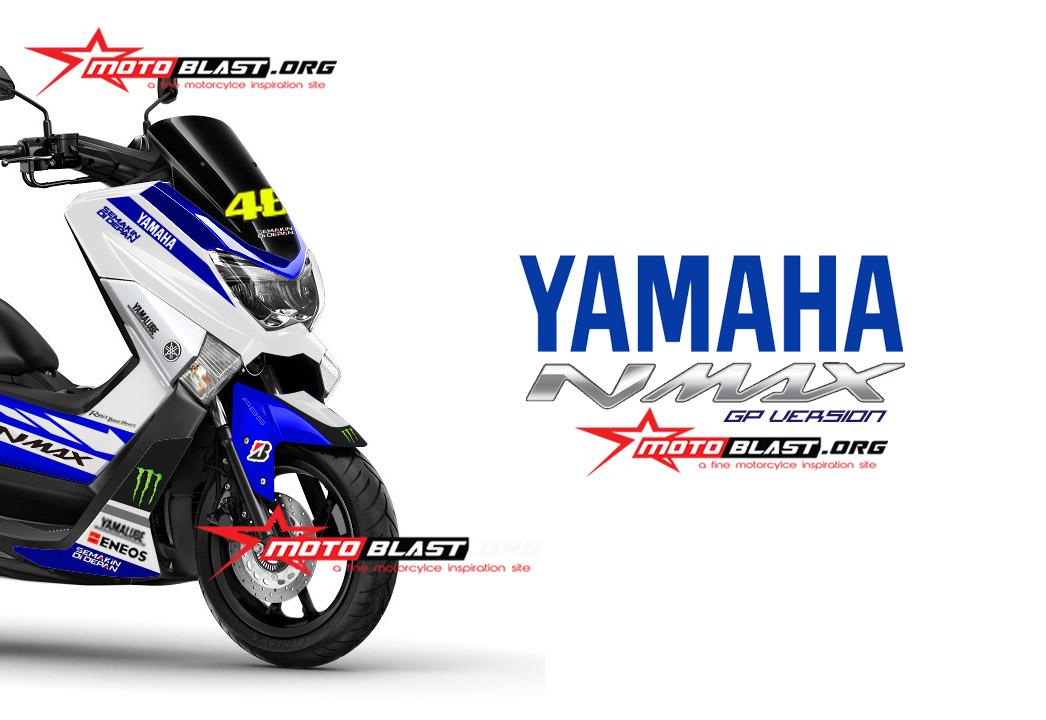 grafis inspirasi modif striping yamaha nmax  white gp