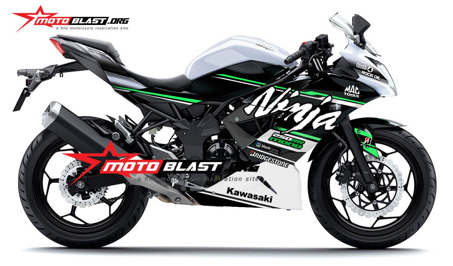 Grafis Inspirasi Modif Striping Kawasaki Ninja 250 RR MONO